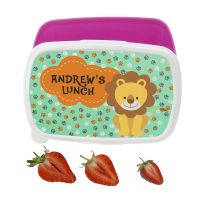 Personalised My Little Lion Lunch Box (Pink or Blue) - ideal gift for back to school, young girl or boy